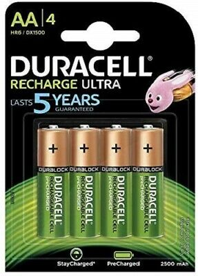 Duracell 8 Piles Rechargeables AA 2500 mAh NEUVES