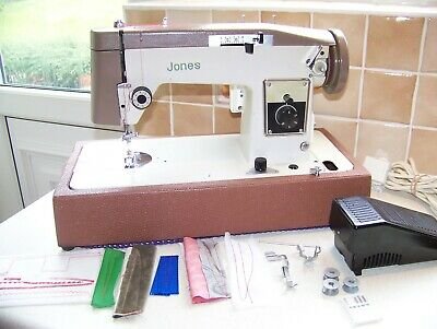 Jones Brother  Z/Zg Heavy Duty Sewing Machine,Leatherette Base & Case, Serviced