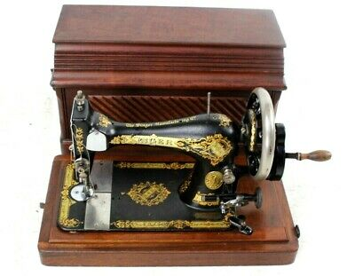 Antique Singer 28K Hand Crank Sewing Machine c1895 [5780]