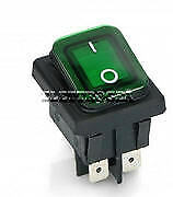 INTERRUTTORE BIPOLARE VERDE LUMINOSO 20A 6,3mm