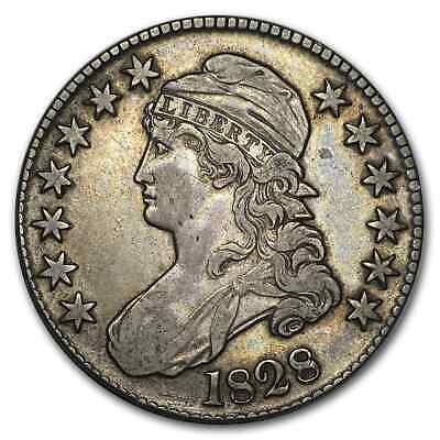 1828 Capped Bust Half Dollar Curl Base 2, No Knob XF - SKU#204535