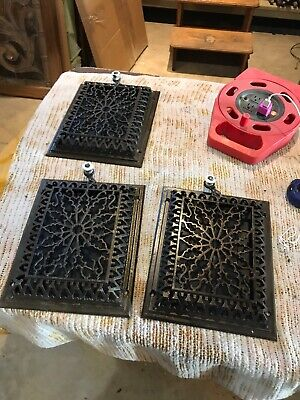 Tc 15 3 Av Priced Each Wall mount heating grate Antique 9 5/8 X 11 5/8