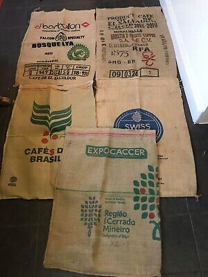 5 x Coffee Sacks - Great for Crafting, Upholstery or Garden