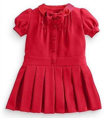 ªªª ВNWT NEXT Girls Party Formal Outfit • Red Pleated Dress • 9-12 Months