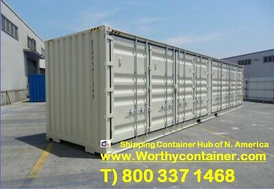 Open Side (OS) - 40' HC New / One Trip Shipping Container in Oakland, CA