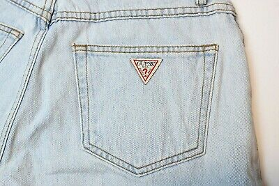 VTG GUESS USA Jean Shorts Size 29 / 30 Unisex EXCELLENT High Waist EUC 90s