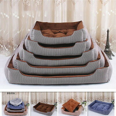 Cozy Soft Pet Cat Dog Basket Bed Cave Washable Fleece Warm Puppy Kennel Cushion
