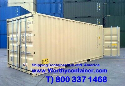 Double Door(DD) - 20' New / One Trip Shipping Container in Miami, FL