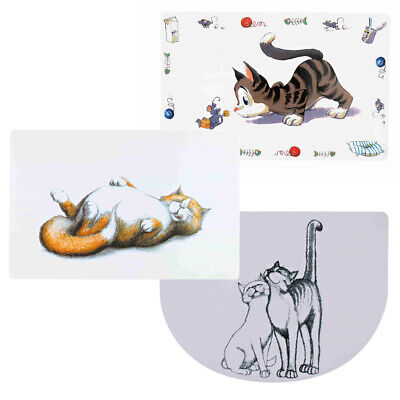Trixie Cat Feeding Mat Kitten Non-Slip Placemat, Easy Clean Plastic Pet Food Mat