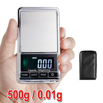 NEW 500g 0.01 Digital Pocket Scales Jewellery Electronic Milligram Micro mg