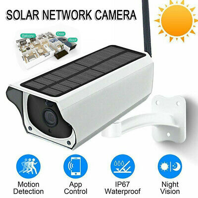 1080P HD PIR Solar Security CCTV IP Camera Wifi Wireless Rechargeable Outdoor AU