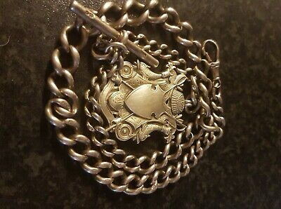 Victorian watch chain and large fob total weight 88grams