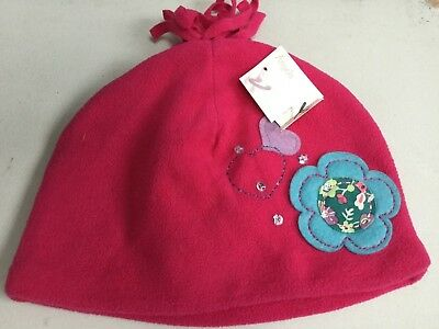 Monsoon Girls Pink Applique Hat Age 7-12 Yr (H4) Rrp £9