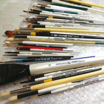 Mixed Pack of Daler-Rowney Factory Paint Brushes