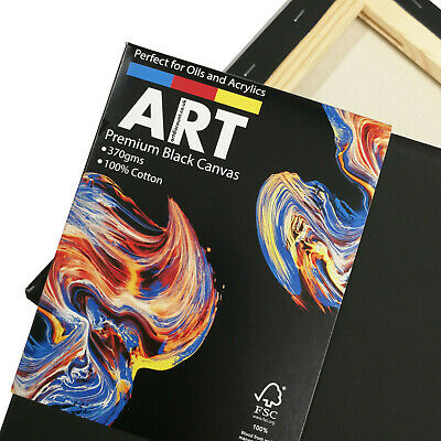 ARTdiscount PREMIUM Stretched BLACK Canvas - (Standard Profile) - Multi-Packs