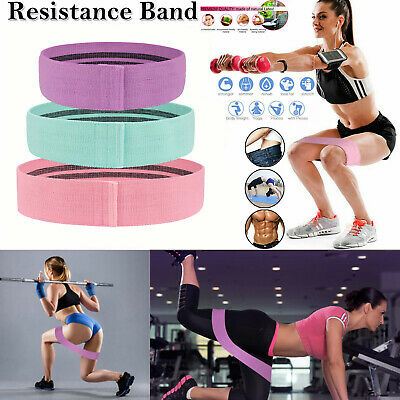 Fabric Resistance Heavy Duty Bands Butt Exercise Loop Circles Set Legs Glutes