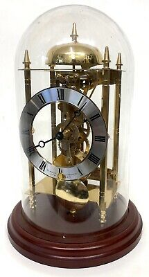 Beautiful Sewills Of Liverpool Brass Skeleton Clock Under Glass Dome