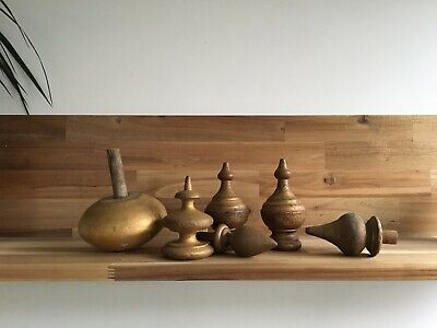 Selection of Antique Wooden Finials Church Architectural Salvage