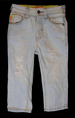 Boys Next Light Blue Distressed Ripped Denim Adjustable Waist Jeans Age 3 Years