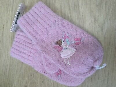 GIRLS MITTENS BY MONSOON - PINK Age 1-3 yr H52