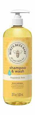 Burt's Bees Baby Bee Fragrance Free Shampoo and Body Wash, 21 oz
