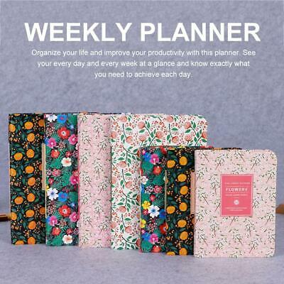 A5/A6 Agenda Daily Planner Office Children Adults 98/196 Sheets Weekly Monthly