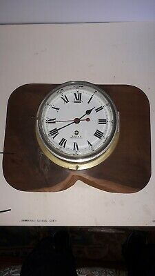 Ships Marine Style Bulkhead Brass Cased Clock, Smith's (post 1900)