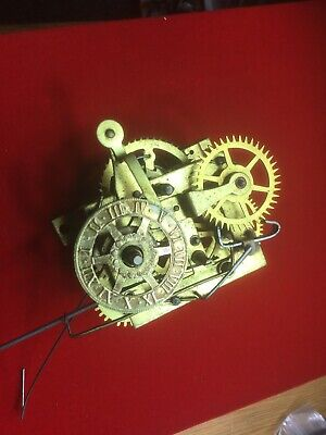 Small Waterbury Alarm Clock Movement For Spares Or Repair