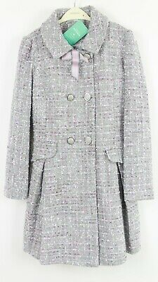 Monsoon Girls Grey Tweed Party Dress Winter Jacket Casual Coat Age 3 to 13 Years