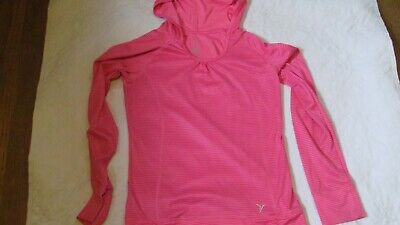 Old Navy Girls Childrens Active Wear Top Shirt Pull Over Size L 10 - 12 Pink