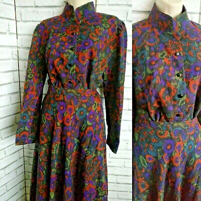 Vintage Windsmoor Wool Blend 2 Piece Set Skirt And Blouse Size 14