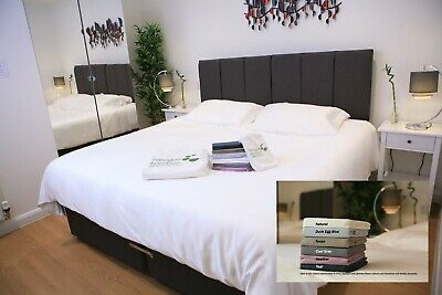 Bamboo king size bed fitted sheet. 100% bamboo, white. Antibacterial.