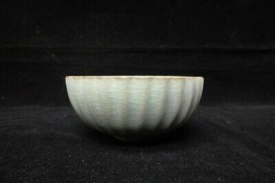 "Very Rare Fine Old Chinese ""Guan"" Kiln Blue Glaze Porcelain Bowl"