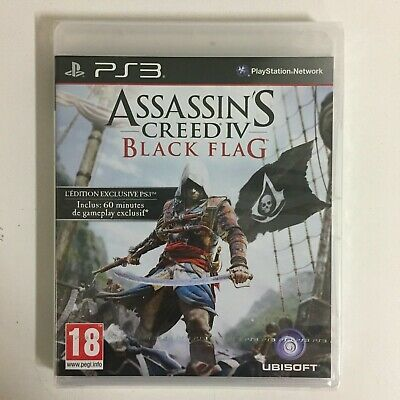 Assassin's Creed IV Negro Bandera L'Exclusivo Juego PS3 Nuevo en Blister