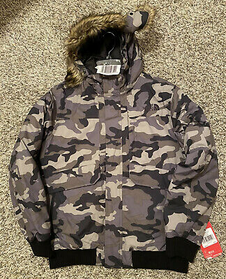 NEW The North Face Gotham Down Boys Jacket Camo Size X-Large XL 18-20 NWT