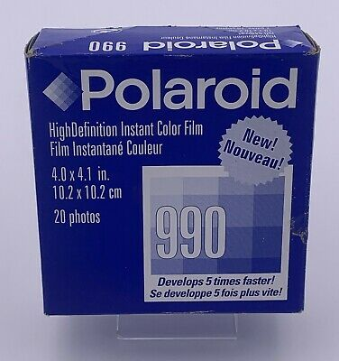 Polaroid 990 Instant Color Film -  20 exposures!!! Expiration June 2003 SEALED