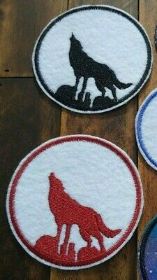 """#4999 5 1//2/"""" Animal Wolf Embroidery Iron On Applique Patch"""
