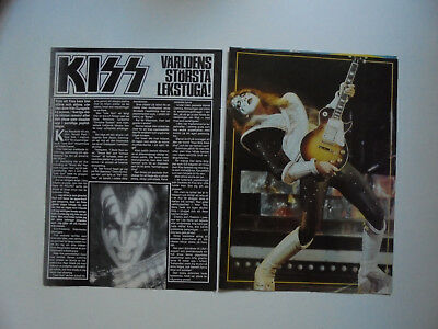 Kiss Ace Gene Indochine Sirkis Tears for Fears Stratosphear clippings Sweden