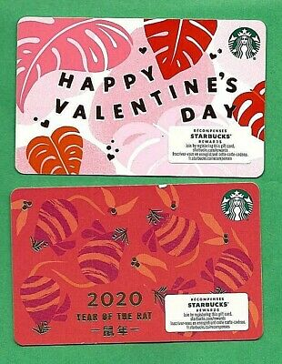 2020 Starbucks Canada Valentine & Year of the Rat Bilingual Gift Card No  Value