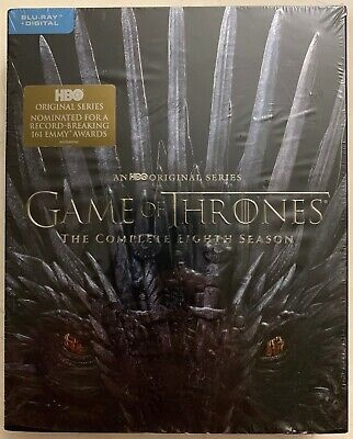 Game Of Thrones The Complete Eight Season Blu Ray 3 Disc Digipack + Slipcover