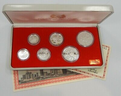 Singapore, 1985 6 Piece Sterling Silver Proof Set - Choice Proof !!
