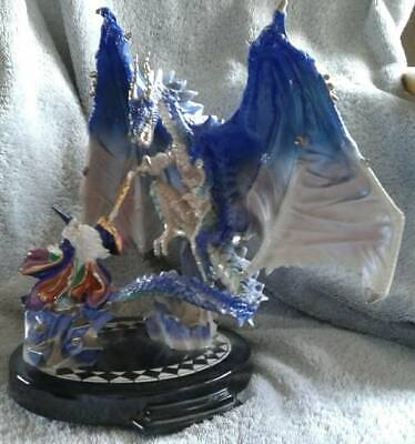 "Franklin Mint ""Dragon Spell"" by Myles Pinkney Wizard and Dragon"