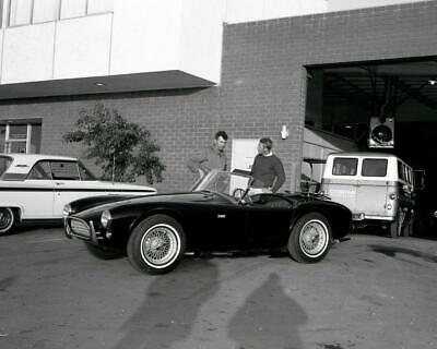 Steve McQueen and Carroll Shelby Cobra 289 Roadster 8x10 Photo G-304