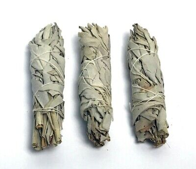 3 Pack White Sage Smudge Bundle Incense Herb Wand Cleansing Negative