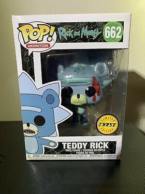 Funko Pop! Television Teddy Rick #662 Chase Limited Edition Rick & Morty Bloody