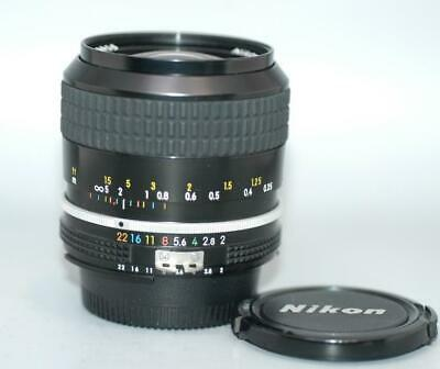 Nikon 28mm f2 Ai Nikkor manual focus fast lens for film & DSLR camera Nice Mint-
