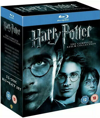 HARRY POTTER COMPLETE 8-Film Collection BRAND NEW+SEALED 11-Disc Blu-ray Box Set