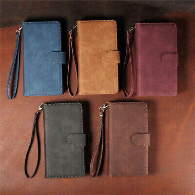 For iPhone 11 Pro Max / XS / 7 / 8 Luxury PU Leather Flip Zip Wallet Phone Case