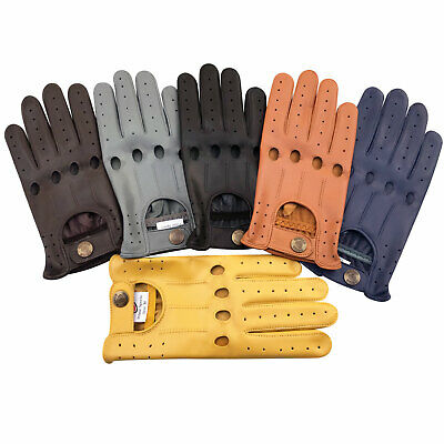 Real Soft Leather Men's Driving Fashion Retro Vintage Style Gloves Unlined 507