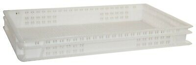 Plastic Ventilated Stacking Food Grade Bakery Euro Trays - Commercial Quality!